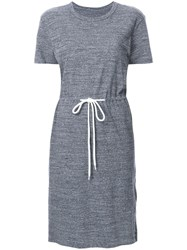 Bassike Slub Drawstring T Shirt Dress Grey