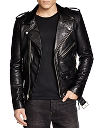 Blk Dnm Leather Biker Jacket Black