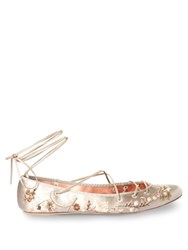 Etro Cora Embroidered Satin Pumps Beige
