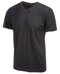Alfani Slim Fitted V Neck T Shirt Black Ice Heather