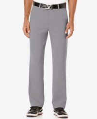 Callaway Men's Big And Tall Stretch Performance Pants Grey