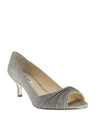 Nina Carolyn Peep Toe Pumps Grey
