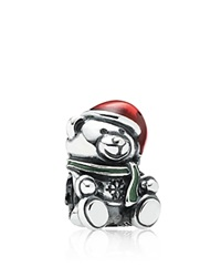 Pandora Design Pandora Charm Sterling Silver And Enamel Christmas Bear Moments Collection Red Green Silver