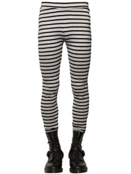 Cheap Monday Striped Cotton Jersey Leggings