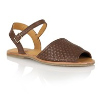 Lotus Mira Peep Toe Sandals Brown