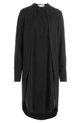 Nobi Talai Wool Cape Dress Black