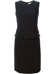 Issa Peplum Waist Dress Black