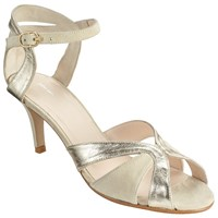 John Lewis Dazed Occasion Stiletto Sandals Cream Suede