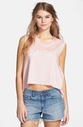Volcom 'Name It' Graphic Tank Powder Pink