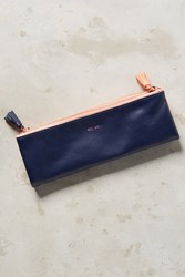 Anthropologie Idiom Pencil Pouch Navy