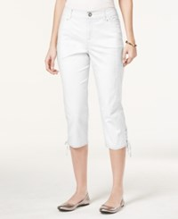 Styleandco. Style And Co. Tummy Control Lace Up Capri Pants Only At Macy's Bright White