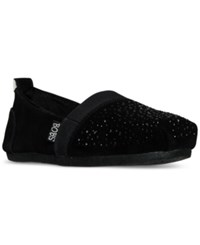 Skechers Women's Luxe Bobs Galaxy Slip On Casual Flats From Finish Line Black