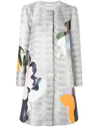 Mary Katrantzou Framis A Line Coat Grey