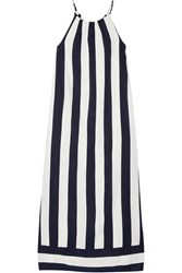 Splendid Capistan Striped Voile Maxi Dress Midnight Blue White