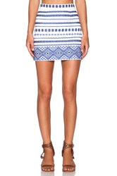 Sam Edelman Embroidered Mini Skirt White