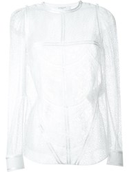 Givenchy Sheer Lace Blouse White