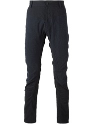 Slim Fit Striped Trousers Blue