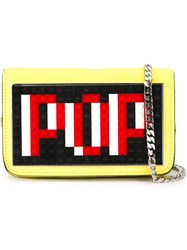 Les Petits Joueurs Small 'Pop' Crossbody Bag Yellow And Orange