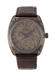 Christian Koban 'Dom' Diamond Watch Brown