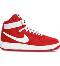 Nike Air Force 1 High Top Trainers Gym Red Sail Retro