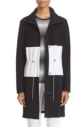 St. John Women's Collection Colorblock Stretch Tech Twill Coat