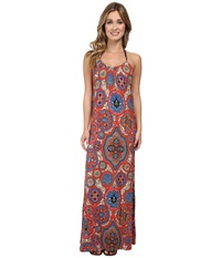 Lucky Brand Groove Maxi Dress Cover Up Multi Women's Swimwear