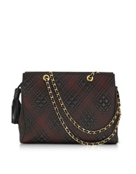 Fontanelli Black Quilted Leather Shoulder Bag
