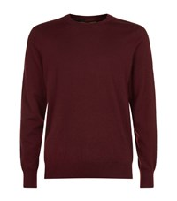 Burberry Cashmere Check Trim Jumper Male Wine