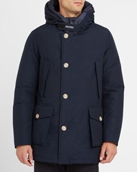 Woolrich Navy Arctic Nf Goose Down Lining Hooded Waterproof Parka Blue