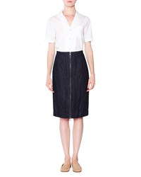 Tomas Maier Short Sleeve Poplin Button Blouse Chalk