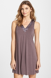 Midnight By Carole Hochman Charmeuse Trim Jersey Chemise Nordstrom Exclusive Sweet Tuffle