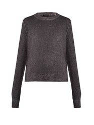 The Row Rienda Cashmere Blend Crew Neck Sweater Grey