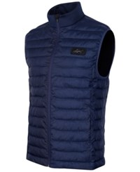 Greg Norman For Tasso Elba Quilted Zippered Vest Only At Macy's Night Sky