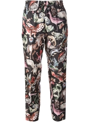 Valentino Animal Print Cropped Trousers Multicolour