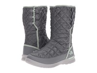 The North Face Thermoball Button Up Shiny Smoked Pearl Grey Subtle Green Women's Pull On Boots Gray