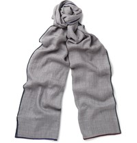 Loro Piana Cashmere And Silk Blend Scarf Gray