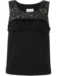 Maison Martin Margiela Textured Sleeveless Blouse Black