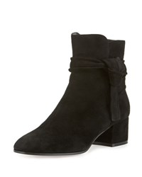 Gianvito Rossi Suede Side Tie 45Mm Ankle Boot Black