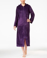 Charter Club Super Soft Hooded Zip Front Robe Only At Macy's Purple
