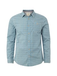 White Stuff Curb Geo Shirt Blue