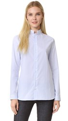 Marie Marot Sarah Officier Collar Shirt Blue White Striped