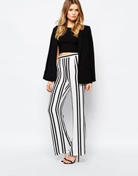 Goldie High Standards Wide Leg Palazzo Pant In Stripe Multi