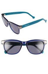 Women's Jonathan Adler 'Santorini' 54Mm Retro Sunglasses Navy