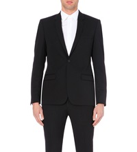 Sandro Wool Suit Jacket Black