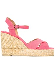 Castaner Castaner 'Blaudell' Wedge Espadrilles Pink And Purple
