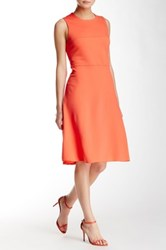 Anne Klein Florence Sleeveless Fit And Flare Dress Red