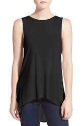 Women's Leith Mixed Media Muscle Tank Black