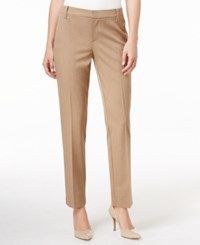 Charter Club Petite Slim Leg Ankle Pants Only At Macy's Dusted Camel