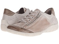 Rieker R3417 Liv 17 Taupe Steel Ice Women's Lace Up Casual Shoes Brown