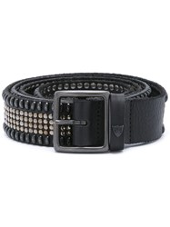 Htc Hollywood Trading Company Studded Buckled Belt Black